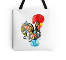 Symbols of Portugal - floral Rooster Tote Bag