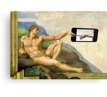 The Creation Of Adam 2014 Canvas Print