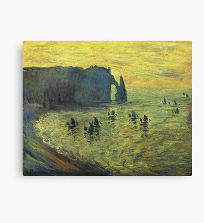 Claude Monet - Cliffs At Etretat, 1886 Canvas Print