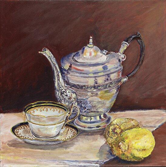 Deb's Teapot with Lemons by artattic