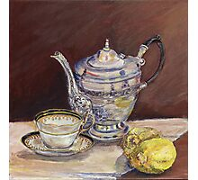 Deb's Teapot with Lemons Photographic Print