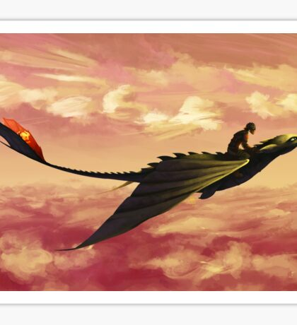 Flying - How to Train Your Dragon Sticker