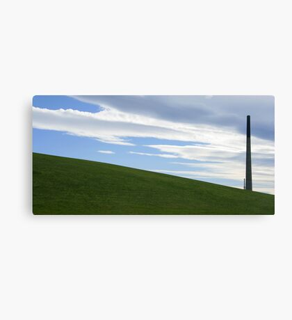 Green hills and industry Canvas Print
