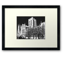 York MInster in the I.R Framed Print