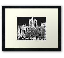 York MInster in the I.R Framed Print
