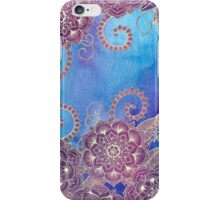 Magnolia & Magenta Floral on Watercolor iPhone Case/Skin