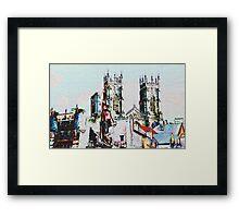 York cityscape Framed Print
