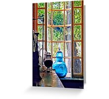 Blue Apothecary Bottle Greeting Card