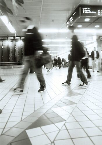 Central Station Blur 2 by Oliver Lawrance