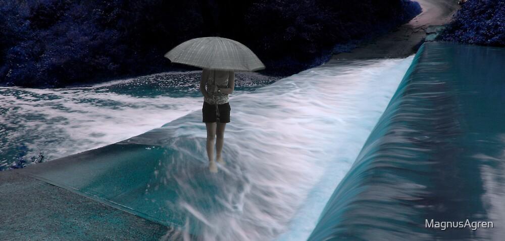 Umbrella in the Weir by MagnusAgren