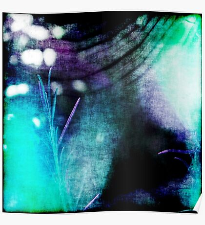 Beauty Fades // An Abstract Between Purple & Aqua Poster