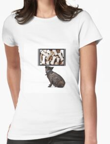 Dreaming Dog Womens Fitted T-Shirt