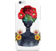 Crown of Flowers Silhouette (0003) iPhone Case/Skin