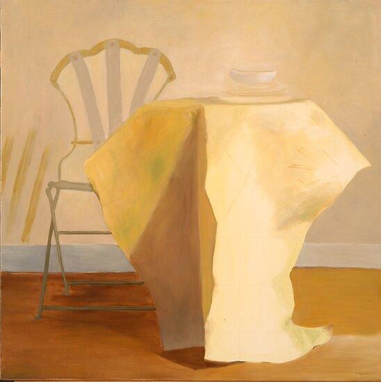 gueridon jaune by frederiqueK