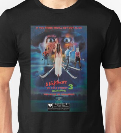 Say You Love Satan 80s Horror Podcast - A Nightmare on Elm Street 3 - Dream Warriors Unisex T-Shirt