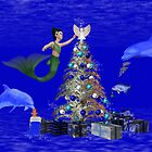Mermaid Decorating the Christmas Tree by LoneAngel