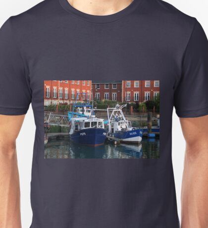 Fishing boats, Portsmouth, England Unisex T-Shirt