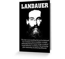 Landauer: The State, Revolution. Greeting Card
