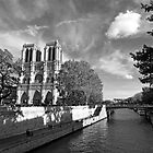 Notre Dame and the River Seine by Alex Cassels