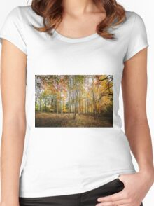 Autumnal Wood Women's Fitted Scoop T-Shirt