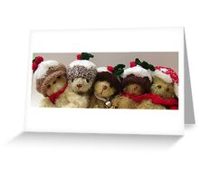 Christmas bears from Teddy Bear Orphans Greeting Card