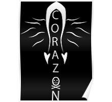 Corazon white Poster