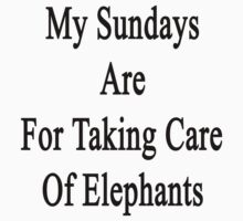 My Sundays Are For Taking Care Of Elephants  by supernova23