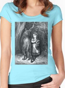 LITTLE RED RIDING HOOD....circa 1857! Women's Fitted Scoop T-Shirt