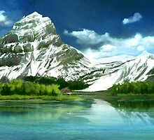 Cold mountains matte painting by Thubakabra