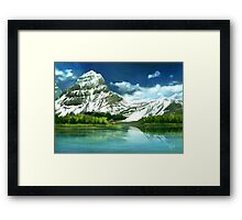 Cold mountains matte painting Framed Print