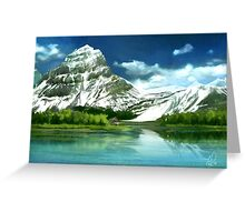 Cold mountains matte painting Greeting Card