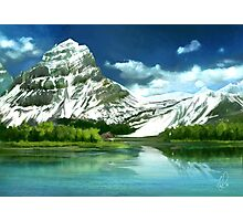 Cold mountains matte painting Photographic Print