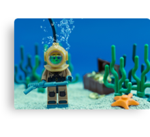 Lego Deep Sea Diver Canvas Print