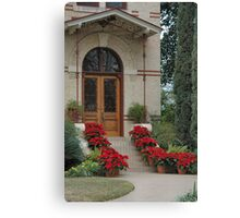 Holiday Door Canvas Print