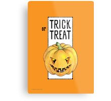Pumpkin Trick or Treat Metal Print
