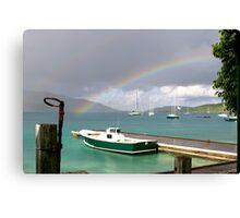 Rainbow's Boats Canvas Print