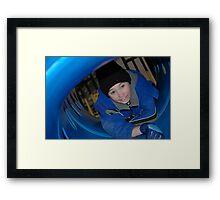 slide  Framed Print