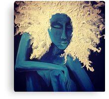 Feeling Blue (up close) Canvas Print