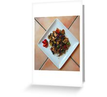 Stir-fry over rice Greeting Card