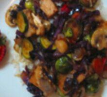 Stir-fry over rice Sticker