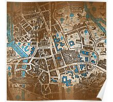 Distressed Maps: His Dark Materials Lyra's Oxford Poster
