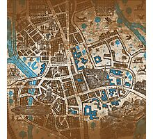 Distressed Maps: His Dark Materials Lyra's Oxford Photographic Print