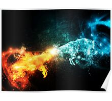 Fire and Water Goats Collide Poster
