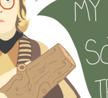 Log Lady - My Log Has Something To Tell You Sticker