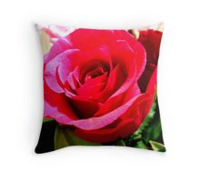 Cerise Pink Rose Throw Pillow