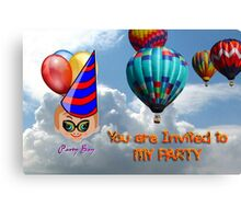 Toon Boy 10b - You Are Invited to My Party Canvas Print