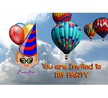 Toon Boy 10b - You Are Invited to My Party Photographic Print