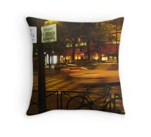 paris street at night Throw Pillow