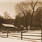 #37  The Farm In winter Snow by MyInnereyeMike
