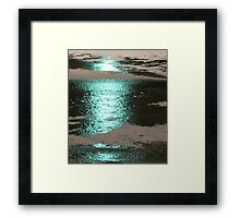#44        Blue Light On Ice Framed Print